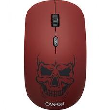 Мышь беспроводная CANYON CND-CMSW401RS, череп со съемной панелью, 4 кн., 800/1200/1600dpi, 2.4GHz