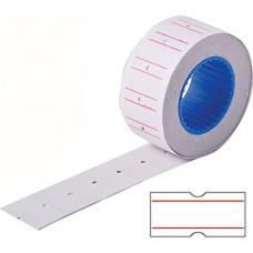 Этикет-лента 21,5 х 12 мм, белая с красной полосой, 800 этикеток [4744611]