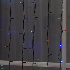 Гирлянда уличная Занавес Ш:2*В:3м, темная, LED-760-220V УМС 2W, без контр, МУЛЬТИ [1080240]
