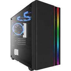 Корпус без б/п Formula V-LINE 7502 черный mATX 3x120mm 2x140mm 2xUSB2.0 1xUSB3.0 audio bott PSU