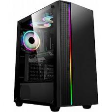 Корпус без б/п Formula V-LINE 7603 черный ATX 6x120mm 2xUSB2.0 1xUSB3.0 audio bott PSU