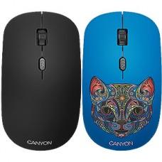 Мышь беспроводная CANYON CND-CMSW400CT, кот со съемной панелью, 4 кн., 800/1200/1600dpi, 2.4GHz
