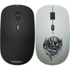 Мышь беспроводная CANYON CND-CMSW401MC, Metallica со съемной панелью, 4 кн., 800/1200/1600dpi, 2.4GH