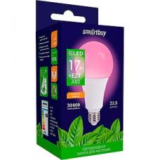 Лампа LED ФИТО Smartbuy E27/A80 груша, 17W, 22.5 мкмоль/с, полный спектр [SBL-A80-17-fito-E27]
