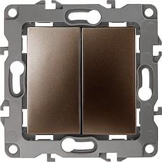 Выключатель с/у 2-кл 10А, ЭРА12 [12-1104-13][10] бронза