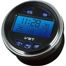 Часы автомобильные VST-7042V, будильник, подсветка, измерение t, вольтметр, питание 12B/2хLR44
