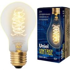 Лампа накаливания Uniel Vintage E27/A60 груша CW, 40W, 250Лм [IL-V-A60-40/GOLDEN/E27 CW01]