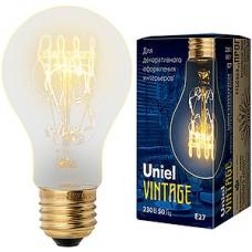 Лампа накаливания Uniel Vintage E27/A60 груша SW, 60W, 300Лм [IL-V-A60-60/GOLDEN/E27 SW01]