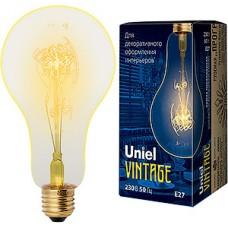 Лампа накаливания Uniel Vintage E27/A95 груша SW, 60W, 300Лм [IL-V-A95-60/GOLDEN/E27 SW01]