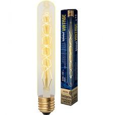 Лампа накаливания Uniel Vintage E27/L32A цилиндр 185мм CW, 60W, 300Лм [IL-V-L32A-60/GOLDEN/E27 CW01]
