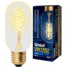 Лампа накаливания Uniel Vintage E27/L45A цилиндр 113мм CW, 40W, 250Лм [IL-V-L45A-40/GOLDEN/E27 CW01]