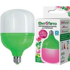Лампа LED ФИТО Uniel E27/M80 цилиндр, 20W, 21 мкмоль/с, RB спектр [LED-M80-20W/SPSB/E27/FR PLS55GR]
