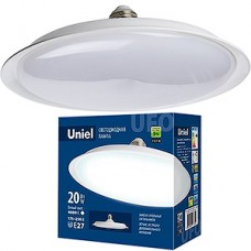 Лампа LED Uniel E27/U165 UFO, 20W, 4000K, 1600Лм [LED-U165-20W/4000K/E27/FR PLU01WH]
