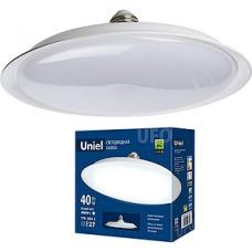 Лампа LED Uniel E27/U220 UFO, 40W, 4000K, 3200Лм [LED-U220-40W/4000K/E27/FR PLU01WH]