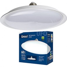 Лампа LED Uniel E27/U270 UFO, 60W, 4000K, 4800Лм [LED-U270-60W/4000K/E27/FR PLU01WH]