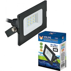 Прожектор LED  10W, 6500K, IP65, SMD, 700Лм, VOLPE [ULF-Q513 10W/DW IP65 220-240В BLACK]