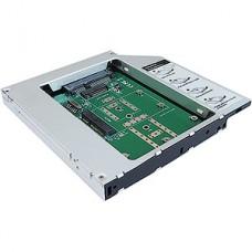 Салазки (переходник) для установки HDD/SSD  в отсек привода ноутбука M2/SATA [AgeStar SMNF2S]
