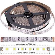 Лента LED SMD5050  60/м, 24В, IP20, 14.4Вт/м, RGB, 5м, цена за 1м, SWG [000020]