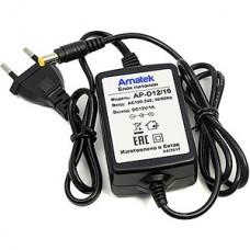 Блок питания Amatek AP-D12/10, 12В/1А, внутренний, пластик, штекер питания, 70x50x29мм