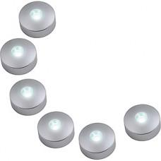 Комплект 6хLED светильников, 4500K, 600Лм, IP33, Uniel [ULM-R04-1W*6/NW IP33 SILVER]