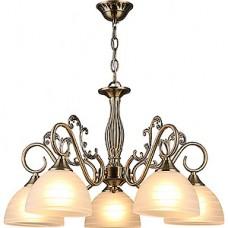 Люстра подвесная 5*E27*60W, стекло, d570*615/370, крюк, WINK [A 3025/5 AB] бронза