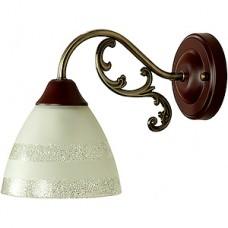 Бра 1*E27*60W, стекло, 130*190*255, планка, WINK [MBG 7072/1 AB+BR] бронза+коричневый
