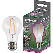 Лампа LED ФИТО TDM E27/A60 груша, 8W [SQ0340-0237]
