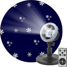 Лазерный проектор, 3 реж. работы, 3 вида снежинок,