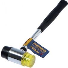 Молоток рихтовочный 300г, бойки 35мм, обрезиненная ручка, TUNDRA [2361590]