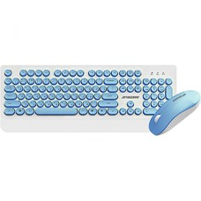 Беспроводной набор Jet.A SMART LINE KM39 W Blue, белый-синий, USB