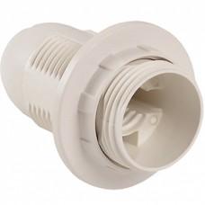 Патрон E14 пластиковый подвесной с кольцом, GENERAL [GLH-E14-HRP-H-W-R] белый